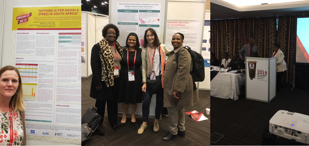 MRU staff participate in the SAAIDS conference, Durban June 2019